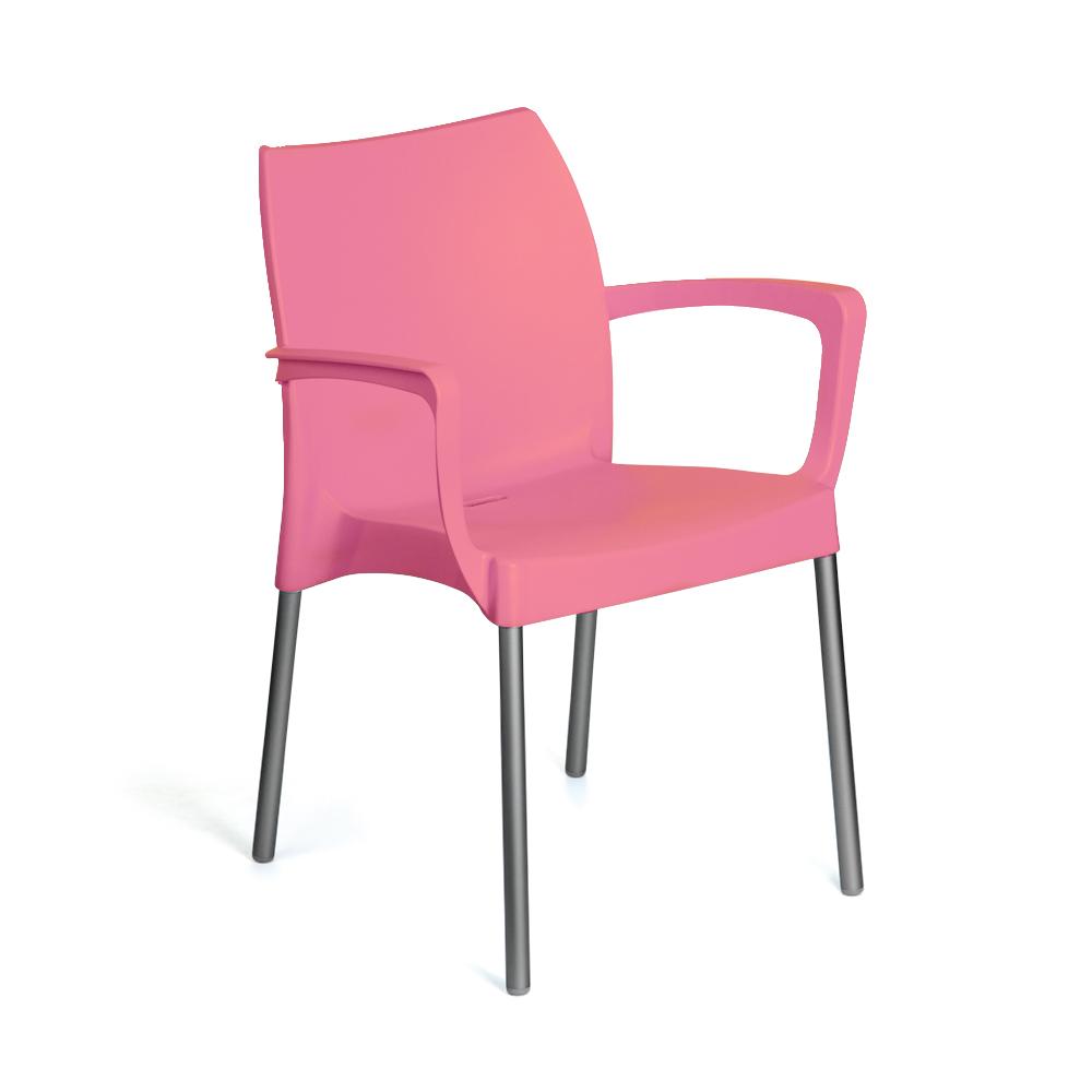 Kit 4 Cadeiras em Polipropileno com Braço
