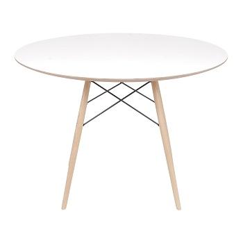 Mesa eiffel 110cm Branca - Or design