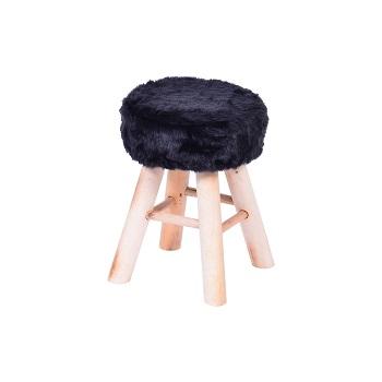 Puff Glamour base madeira - Or design