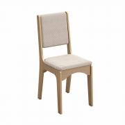 Cadeira CA19 Dalla Costa - Carvalho com tecido Geométrico (Par)
