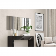 Painel decorativo barra vertical espelhado TB201 Dalla Costa - Preto Brilho