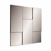 Painel decorativo escala espelhado TB96 Dalla Costa - Preto Brilho
