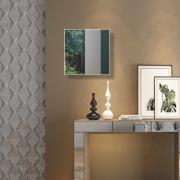 Painel espelhado quadrado ES7 Dalla Costa - Off White Brilho