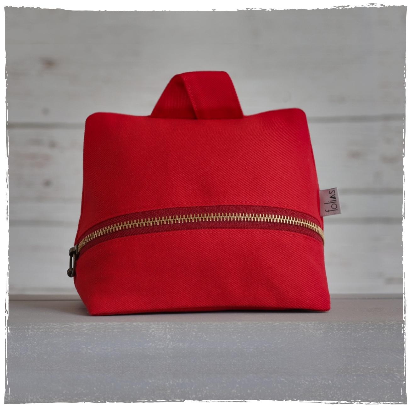 Peso de Porta de Sarja Vermelho Moderno e Elegante