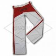 Calça de Capoeira Branca e Vermelha