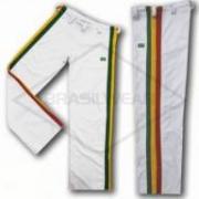 Calça de Capoeira Infantil Reggae Jamaica Branca Abada
