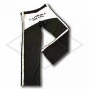 Calça de Capoeira Preta e Branca