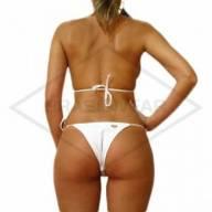 Biquini Branco Cortininha  - Brasilwear