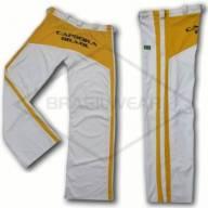 Calça de Capoeira Branca e Amarela