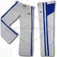 Calça de Capoeira Branca e Azul
