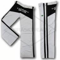 Calça de Capoeira Branca e Preta