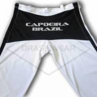 Calça de Capoeira Branca e Preta  - Brasilwear