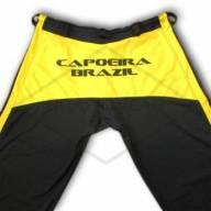 Calça de Capoeira Preta e Amarela  - Brasilwear