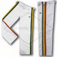 Calça de Capoeira Reggae Jamaica Branca