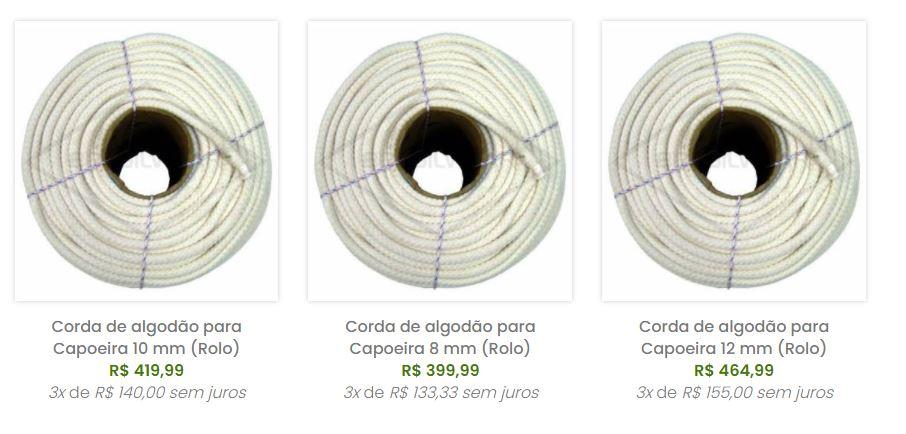 Corda de algodão para Capoeira 10 mm (Rolo)  - Brasilwear