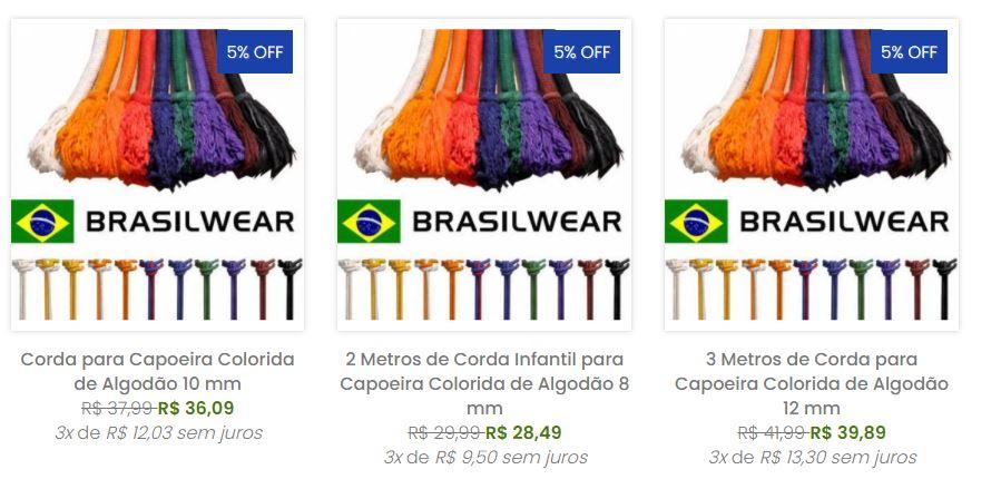 Corda para Capoeira Colorida de Algodão 10 mm  - Brasilwear