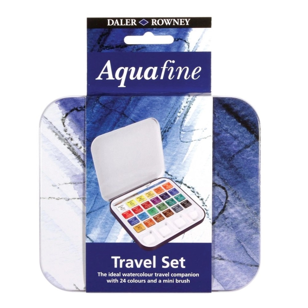 Aquarela Aquafine  Daler Rowney 24 cores