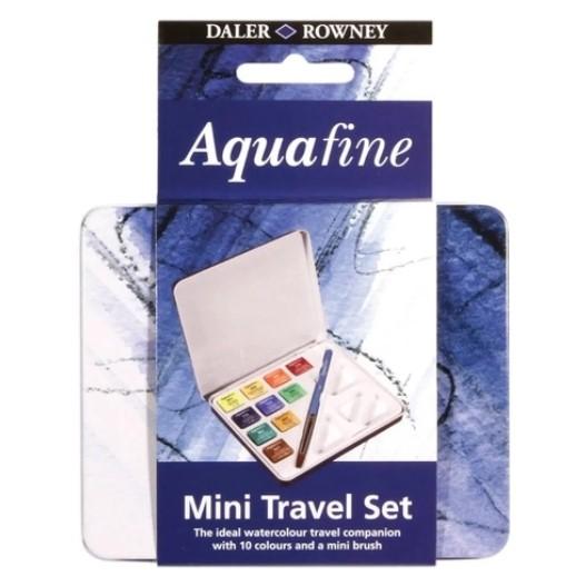 Aquarela pastilha Aquafine Daler Rowney 10 cores - Lata