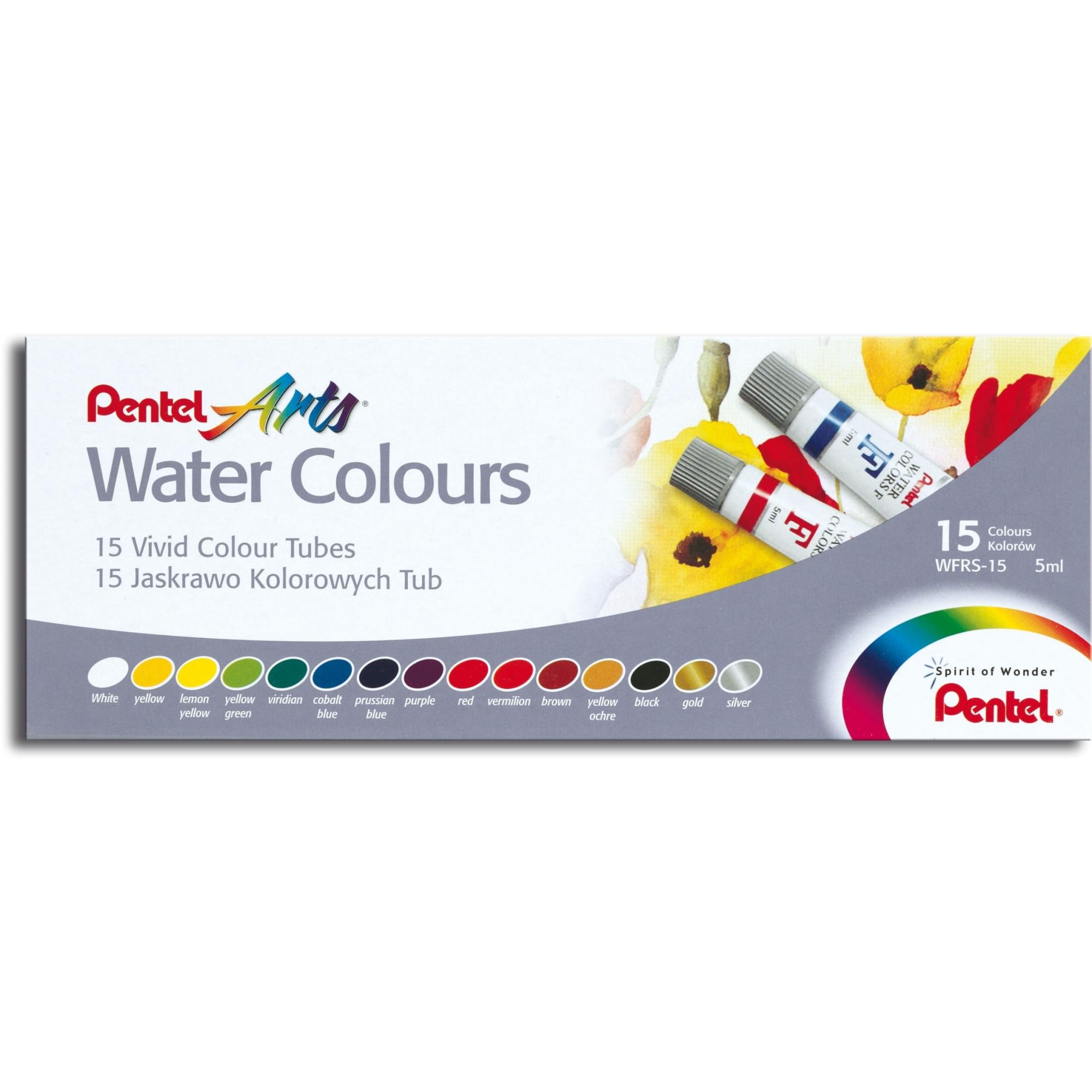 Aquarela Pentel Arts Water Colours - 15 cores