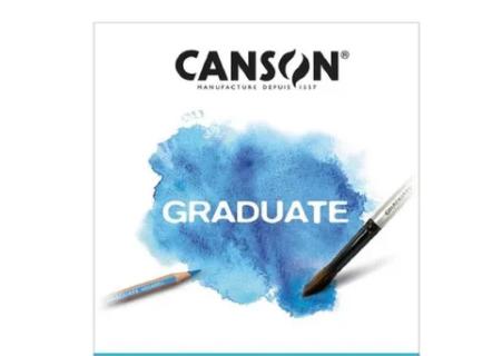 Bloco Aquarela A4 Canson Graduate - 250 g/m²