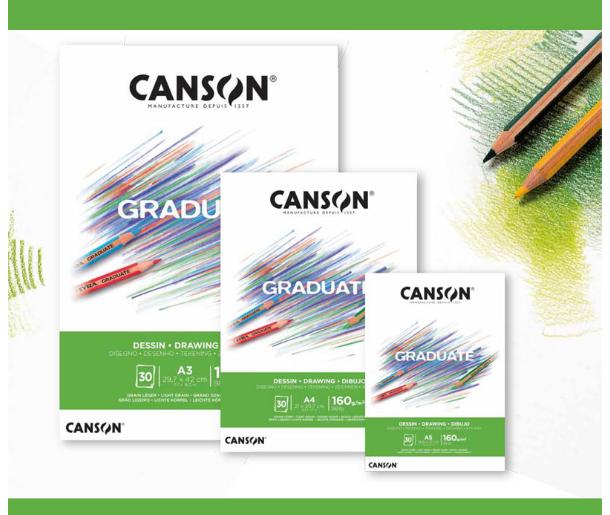 Bloco Desenho A3 Canson Graduate - 160 g/m²