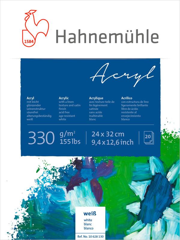 Bloco Hahnemühle Acryl  330g - 20Fls 24x32cm