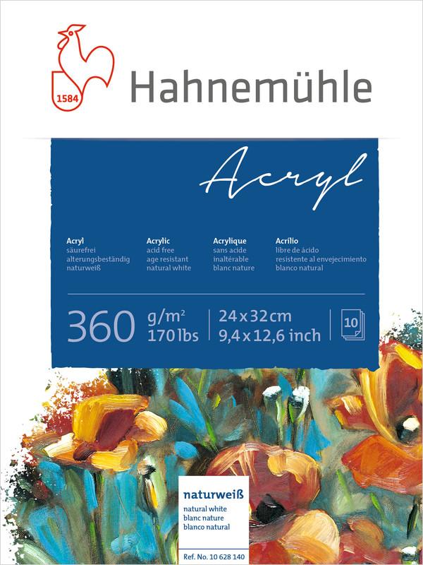 Bloco Hahnemühle Acryl  360g - 10Fls 24x32cm