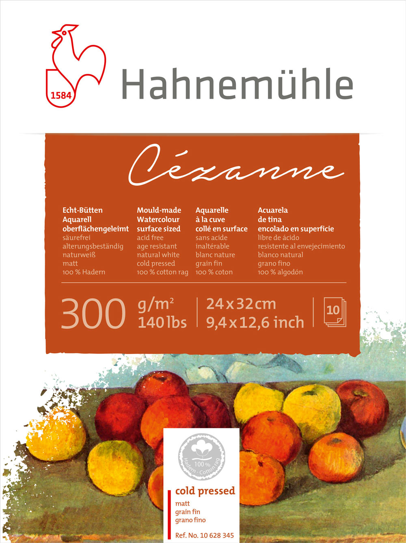 Bloco Hahnemühle Cézanne Watercolour 300g - 10Fls 24x32cm
