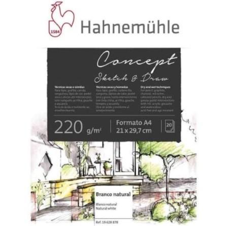 Bloco Hahnemühle Concept Sketh & Draw 220g A4 - 20 Fls