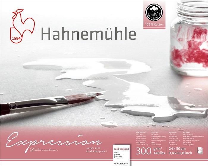 Bloco Hahnemühle Expression Watercolour 300g - 20Fls - Cold Pressed -  24x 30cm