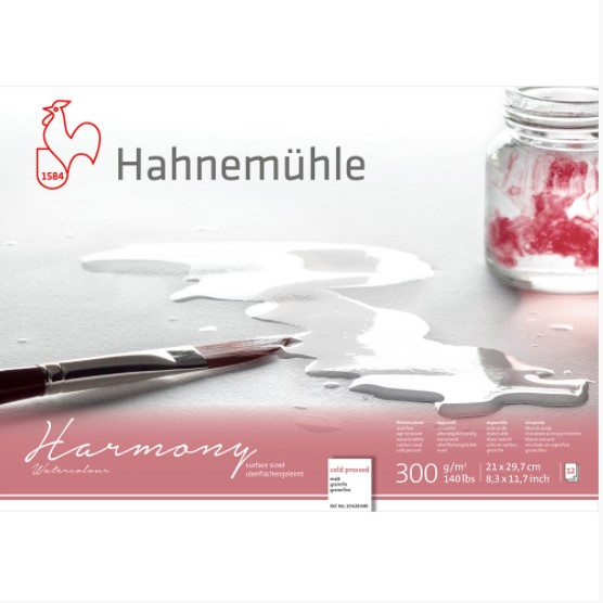 Bloco Hahnemühle Harmony Watercolour 300g - 12Fls   cold pressed   17,8x 25,4cm