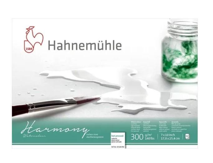Bloco Hahnemühle Harmony Watercolour 300g - 12Fls Hot pressed 17,8x 25,4cm