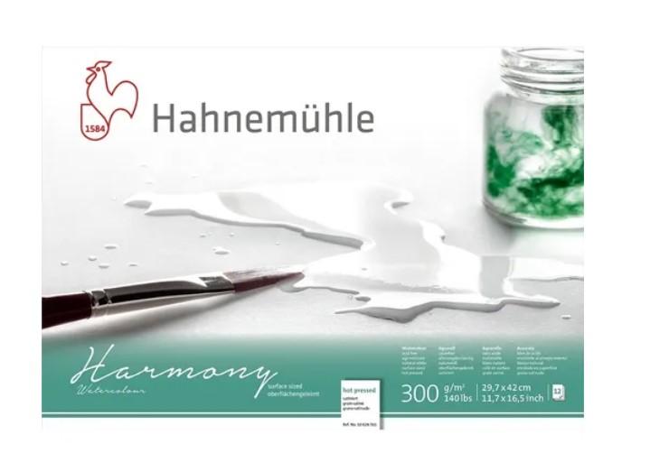 Bloco Hahnemühle Harmony Watercolour 300g - 12Fls Hot pressed  29,7x 42cm