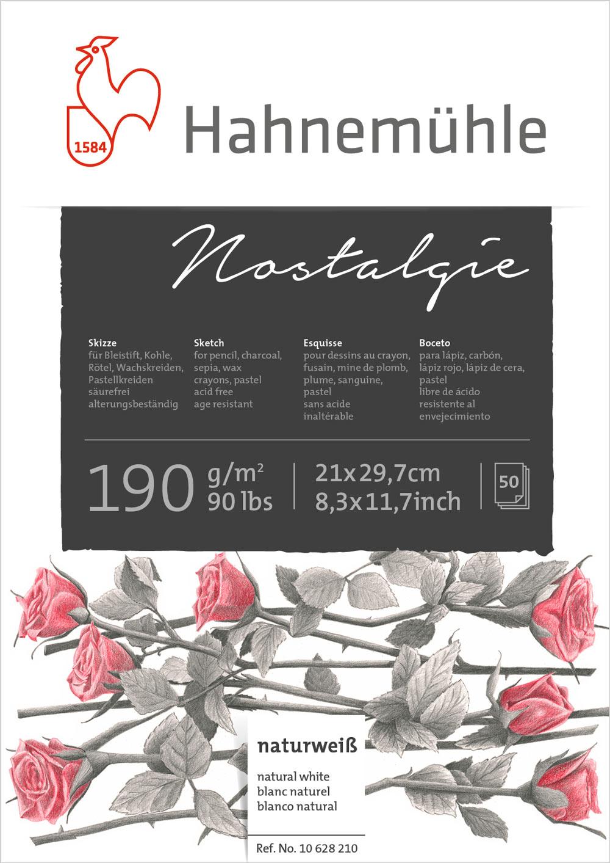 Bloco Hahnemühle Nostalgíe 190g - 50Fls A4 21x29,7cm