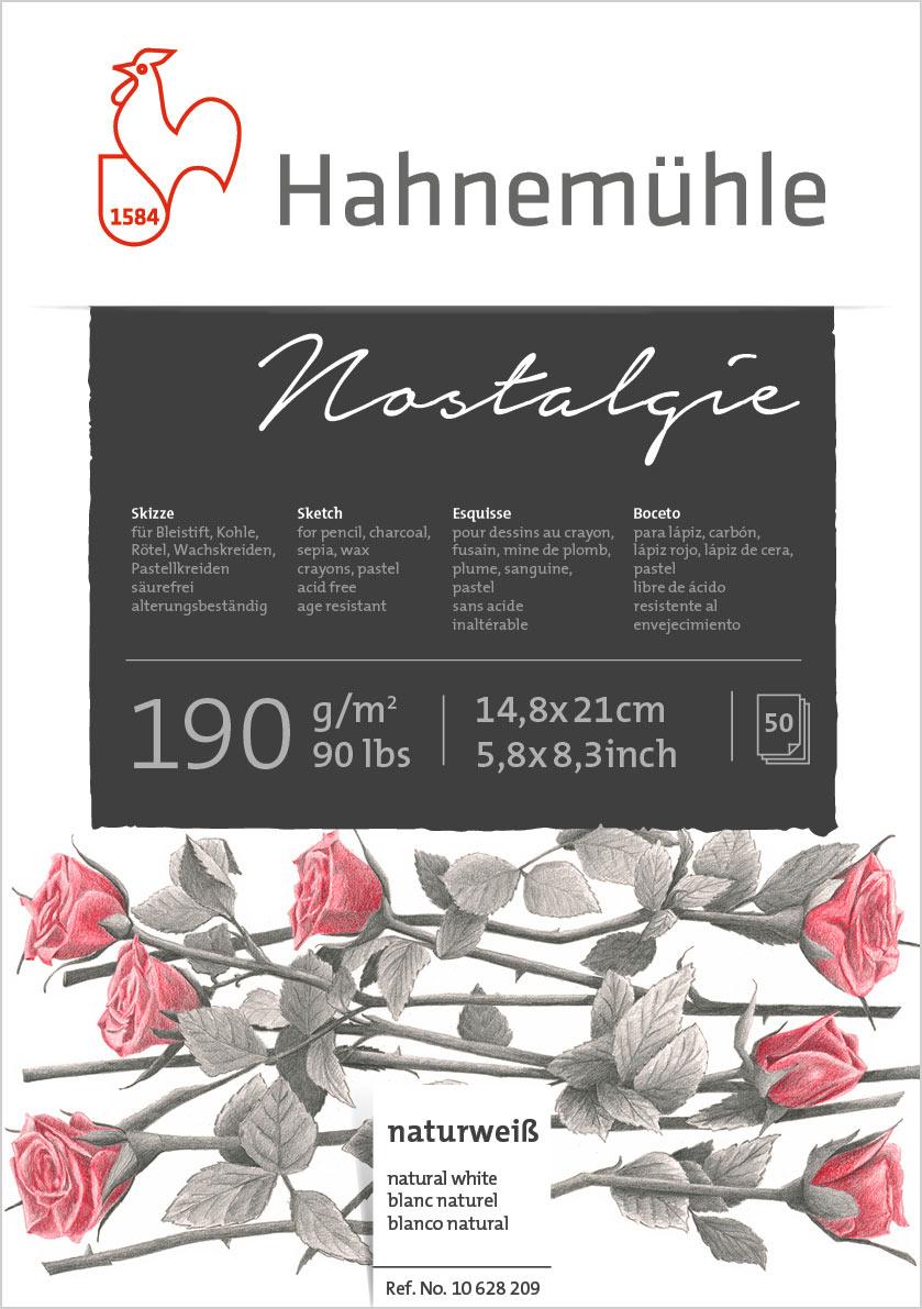 Bloco Hahnemühle Nostalgíe 190g - 50Fls A5 14,8x21cm