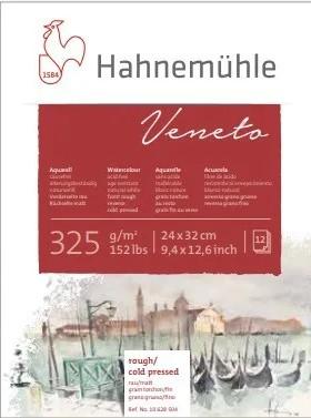 Bloco Hahnemühle Veneto Watercolour 325g - 12Fls 24x32cm