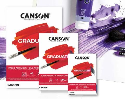 Bloco Òleo e Acrilico A4 Canson Graduate - 290 g/m²