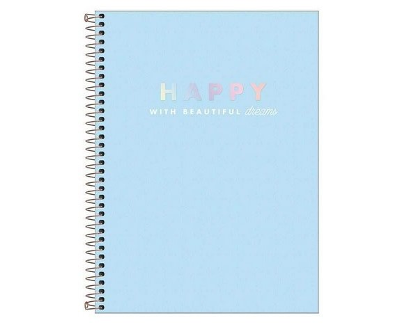 Caderno Colegial capa plástica Tilibra Happy - 80fls