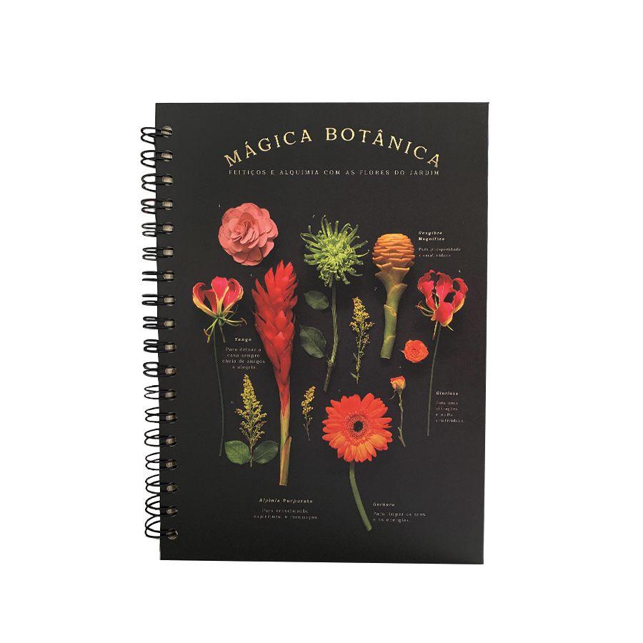 Caderno Colegial Teca- Mágia Botânica 96fls