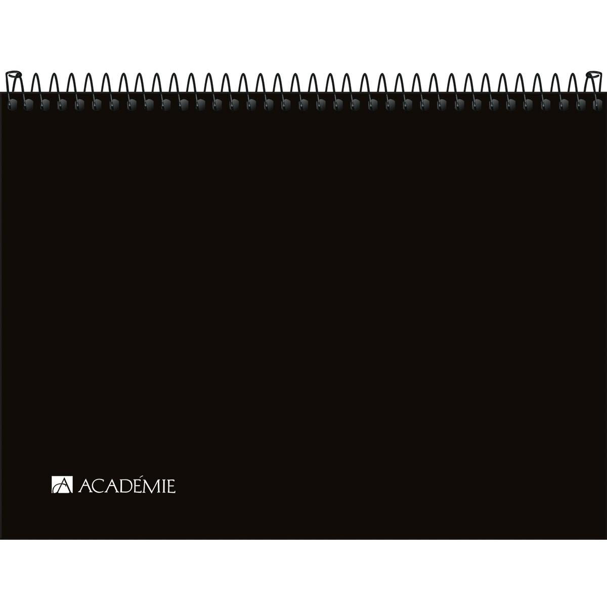 Caderno Sketchbook Espiral Capa Plástica A4 Académie Sense 150g 50 Folhas
