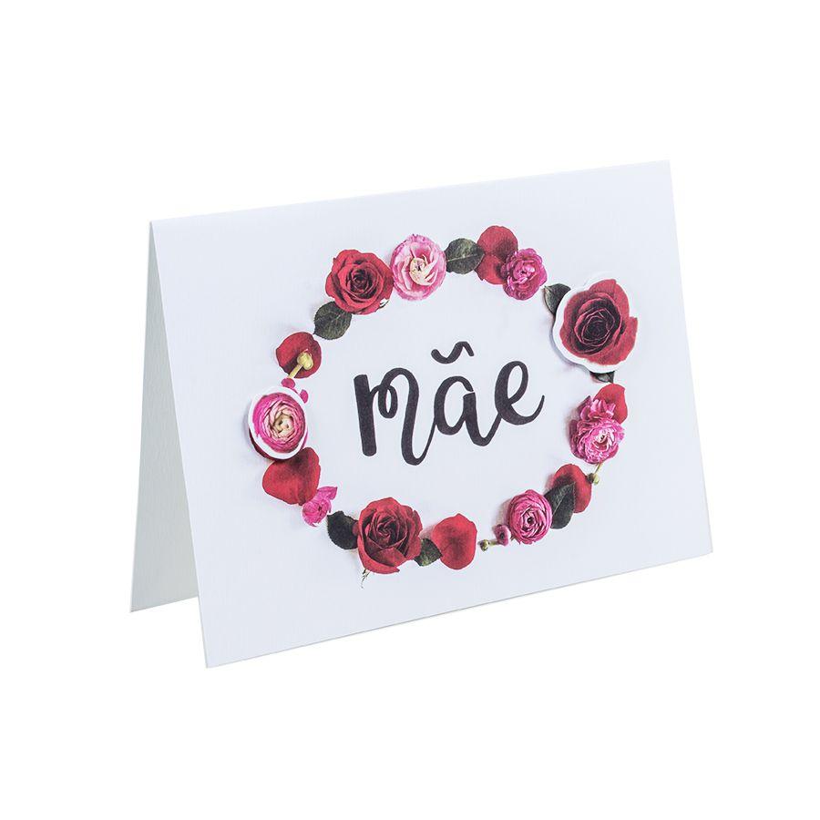 Cartão Teca Floriografia -Mãe