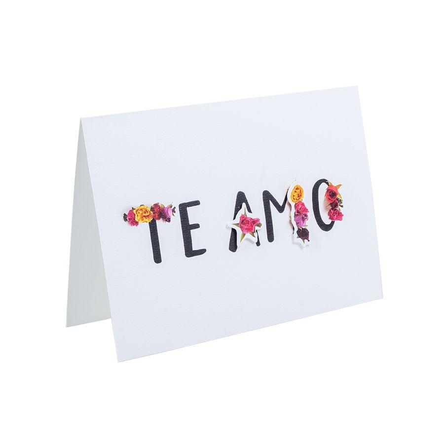 Cartão Teca Floriografia - Te amo