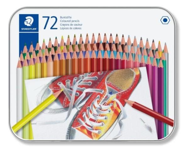 Lápis de cor Staedtler 72 Cores- em estojo de lata