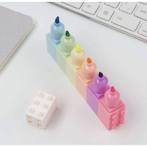 Marca texto Lego Kit 6 cores tons pastel