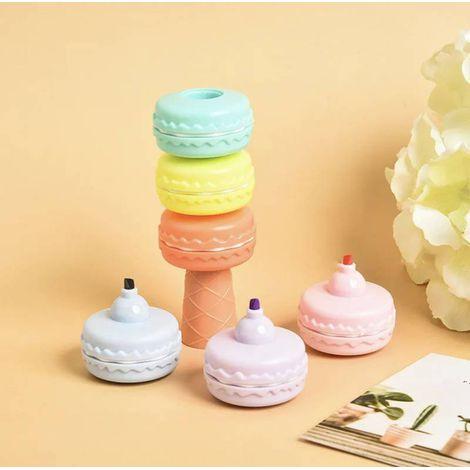 Marca texto Macaron  Kit 6 cores tons pastel