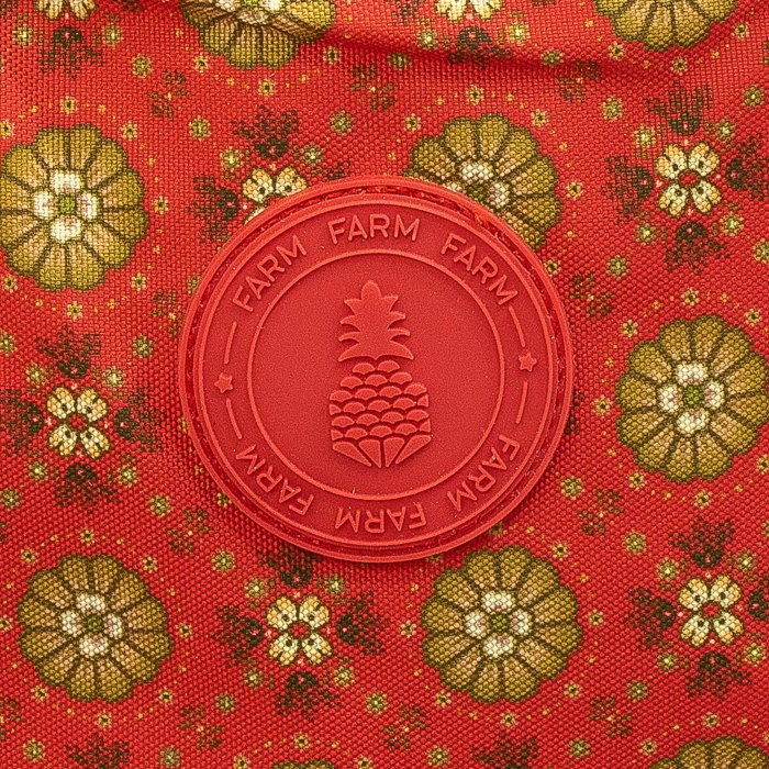 Mochila Farm Xodó Delicadeza das Flores Vermelha