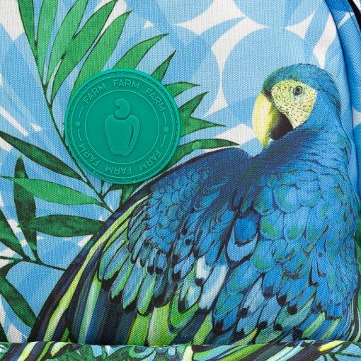 Mochila Feminina Grande Farm Xodó Maxi Arara- Azul/Verde