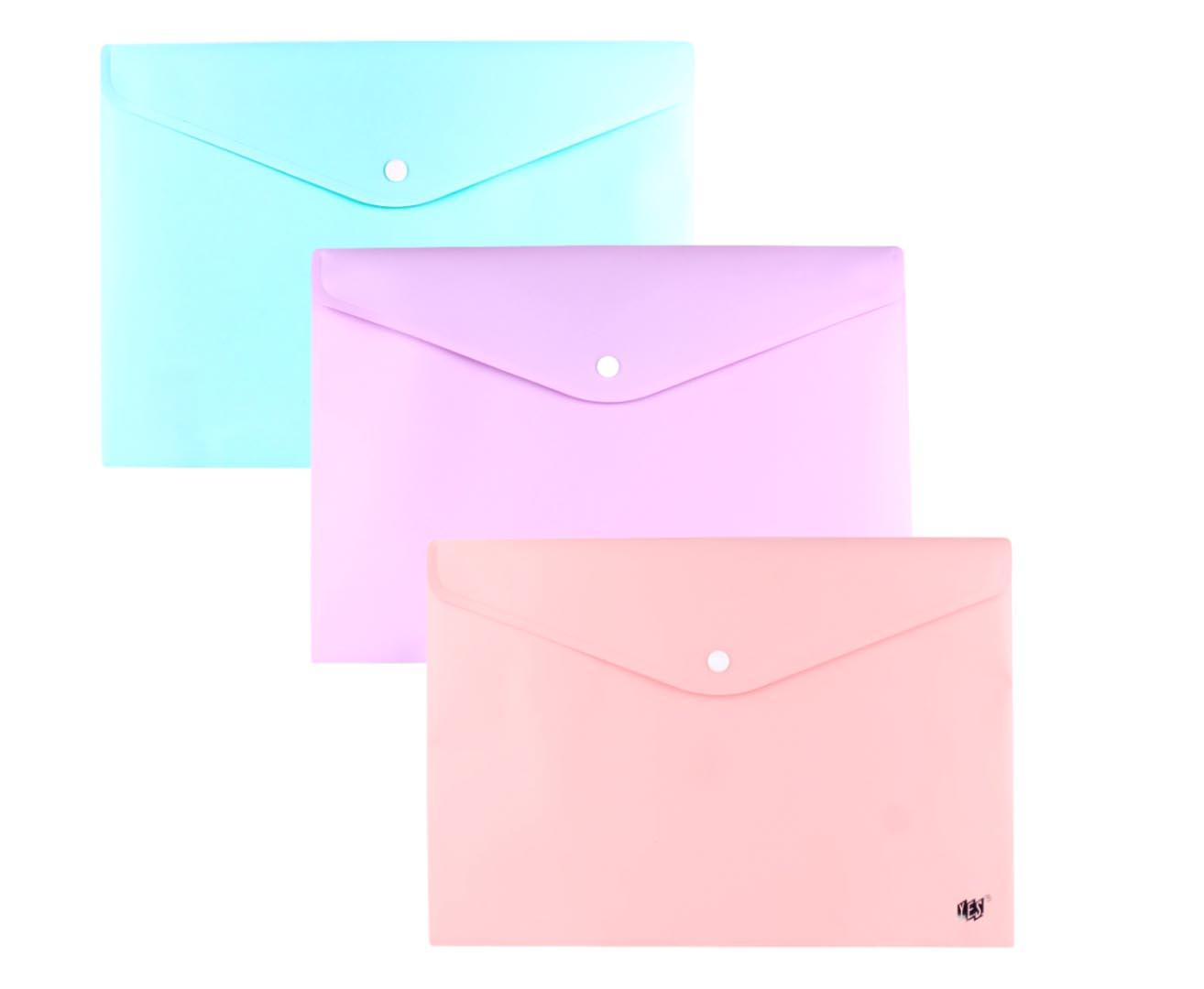 Pasta Envelope Horizontal com Botão 335x235mm Yes