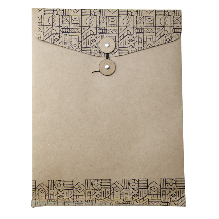 Pasta  Envelope Vai e Vem Vertical Kraft