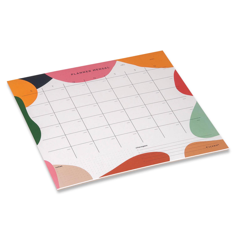 Planner Bloco Mensal Esquema- 29,7 x 27 Cicero